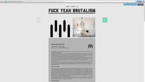 Type de webdesign : brutalisme