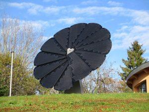 Pnneau solaire en forme de fleur