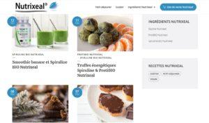 site nutrixeal recettes sante